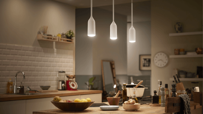 Suspension lights in the kitchen