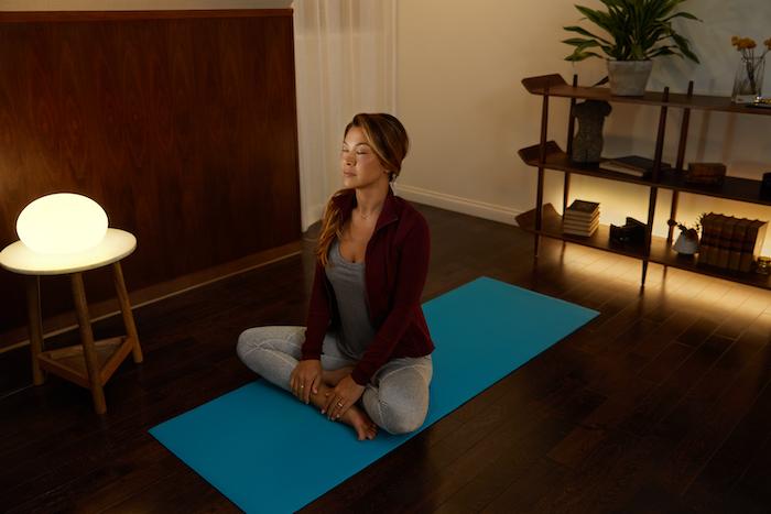 Yoga with perfect lighting