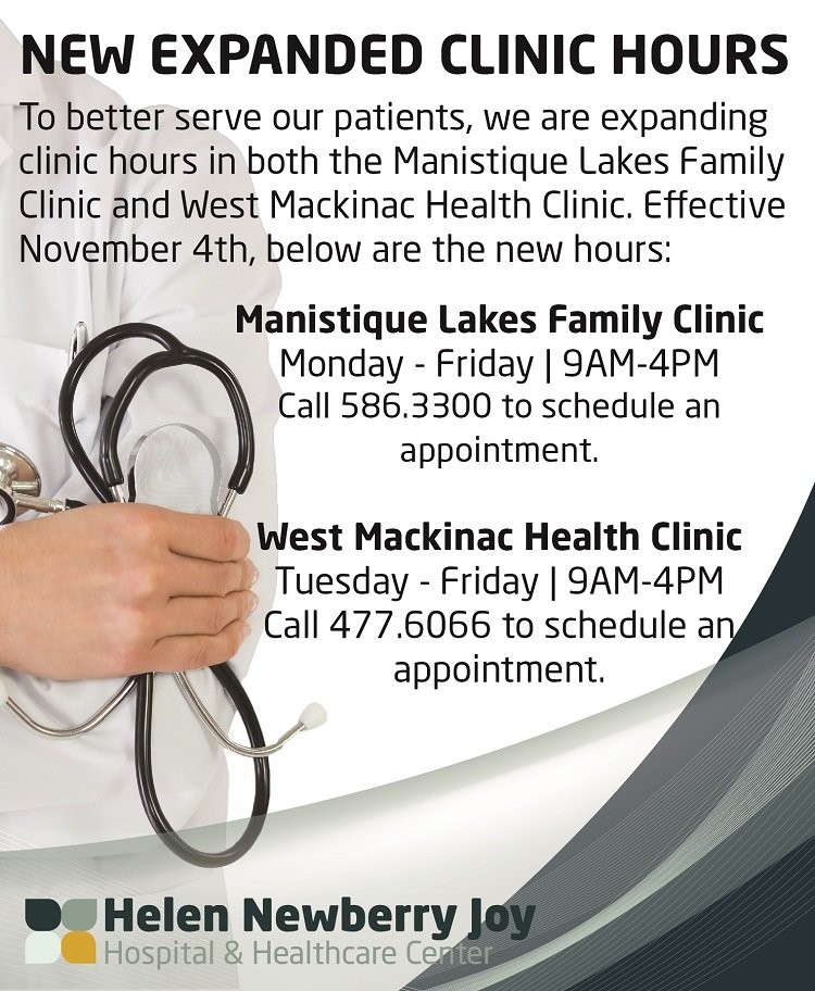 Clinic hours graphic