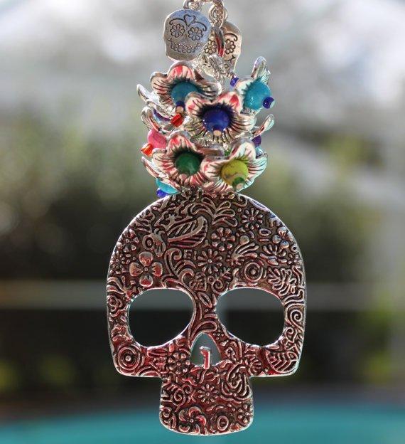 Sugar Skull Car Charm ($17, Etsy.com)