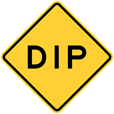 dip is another type of warning sign
