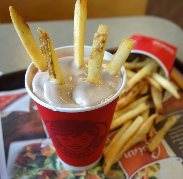 wendy's french fries and frosty
