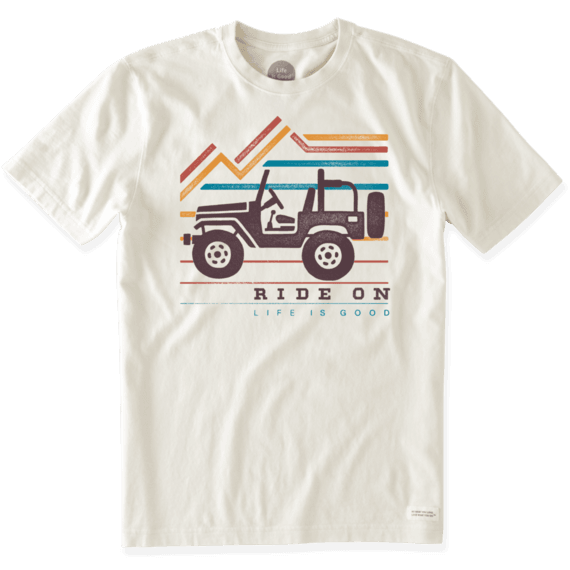 Men's Ride On Mountain Crusher Tee ($26, LifeIsGood.com)