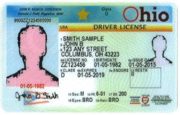 ohio drivers license points out of state