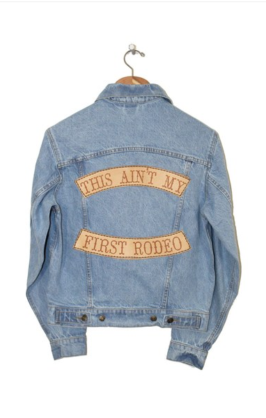 Understated Leather denim jacket