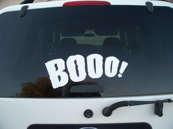 Booo Car Decal