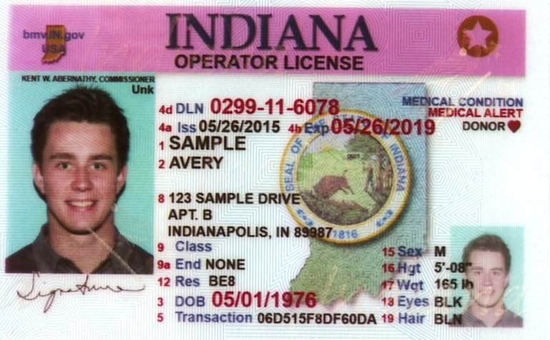 indiana driver license