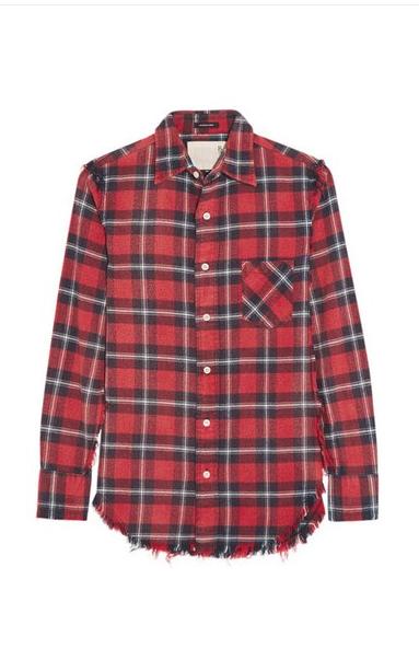 R13 plaid flannel shirt