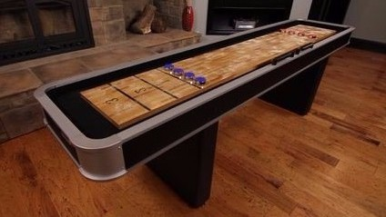 Entertain Winter Guests With Games For Kids And Adults - Portable shuffleboard table