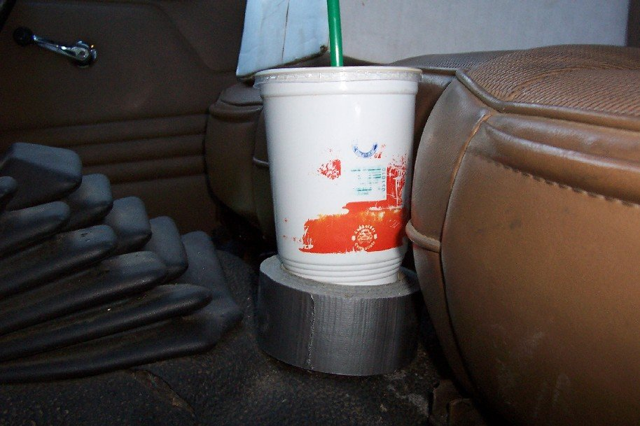 duct tape cup holder