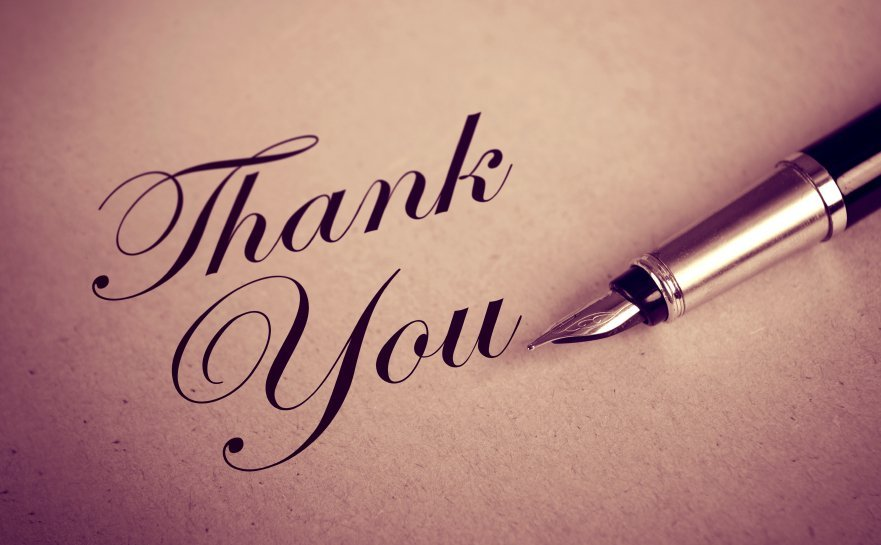 Foutain Pen and Thank You message