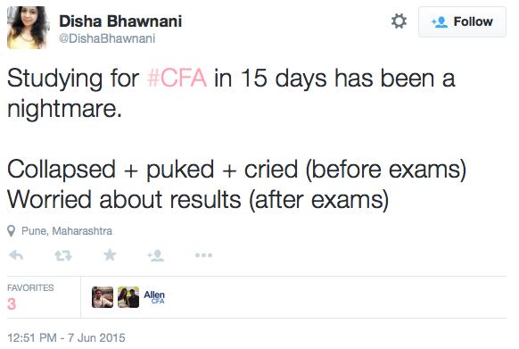 CFA Exam Stories