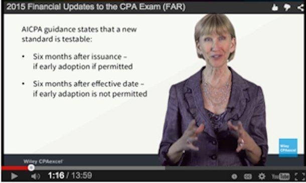 CPA Exam updates july 2015