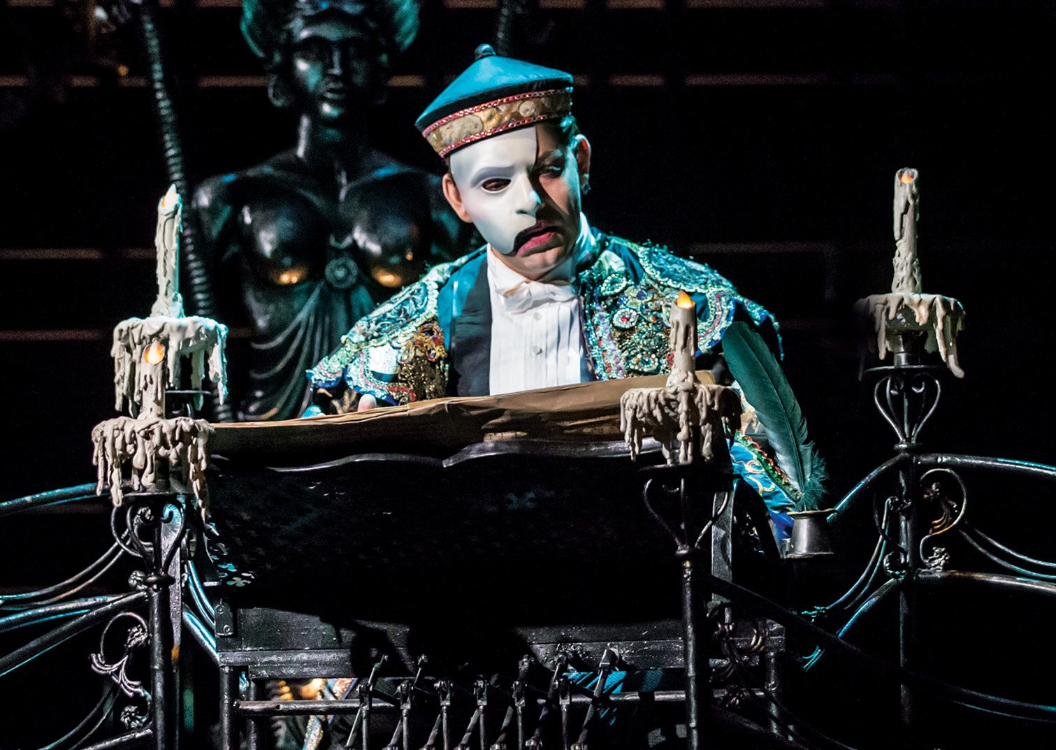 Ben Forster as The Phantom Of The Opera (Photo: Johan Persson)