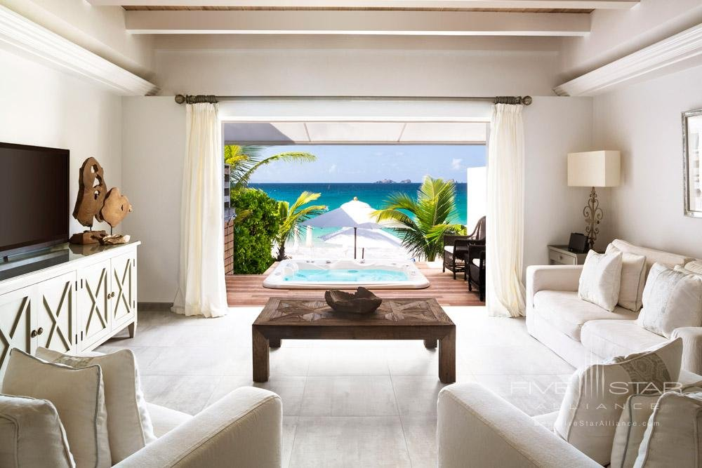 Beach Suite Living Room at Cheval Blanc St-Barth Islde de France