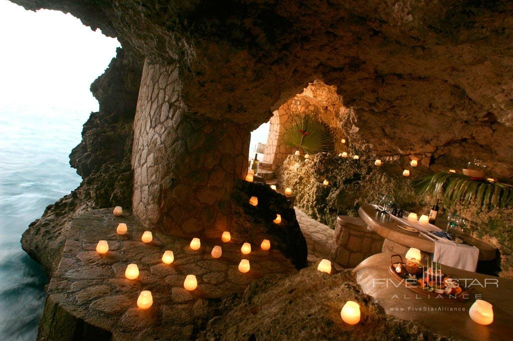 Candlelit dining at The Caves