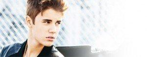 Windblown Justin Bieber.