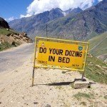 Himalayan driving safety sign