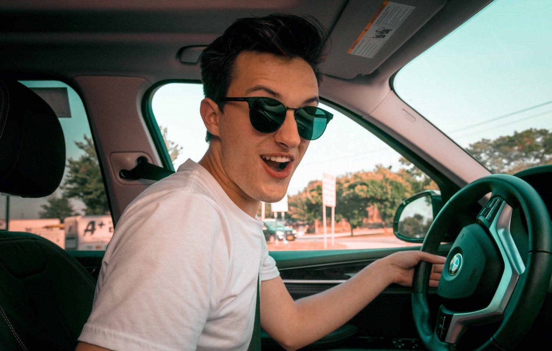 teen driving a bmw