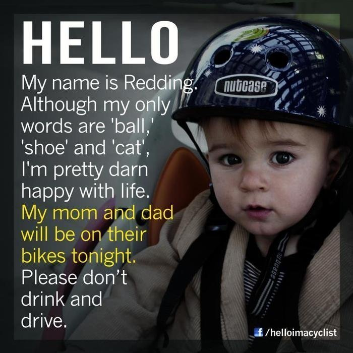 Hello my name is Redding, my mom and dad will be on their bikes tonight.