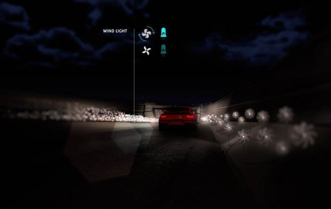 Smart Highways with Wind Light
