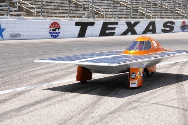 Driving Solar Car on the Texas Motor Speedway