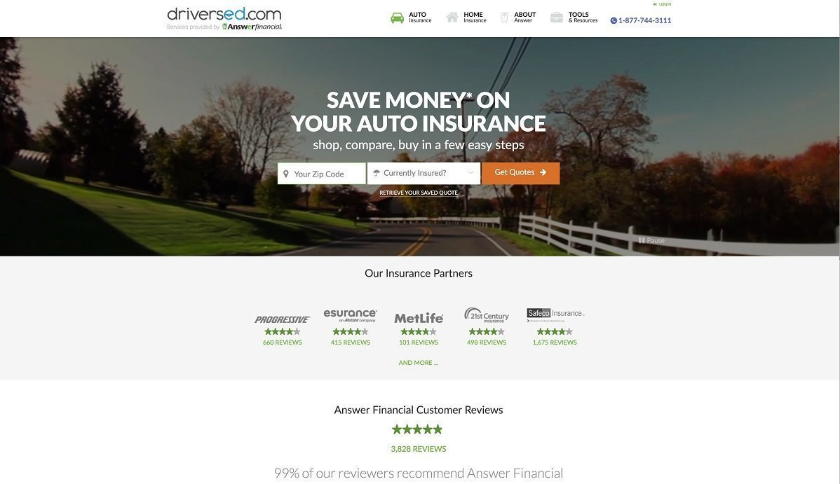 Answer Financial free car insurance quote tool.