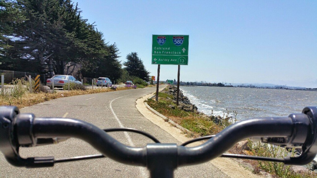 Raúl's view on the San Francisco Bay Trail.