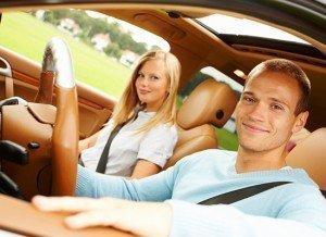 couple wearing seat belts