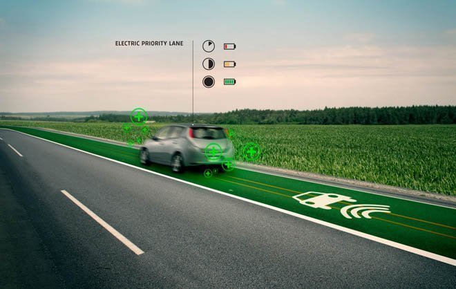 Smart Highways with Electric Priority Lane