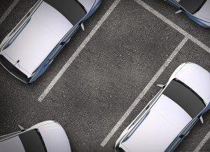 car entering parking spot