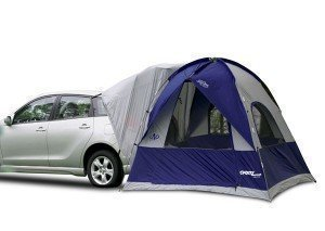car upgrades for road trips with hatchback tent