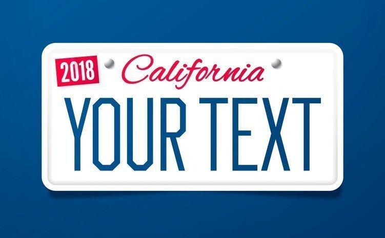 California Vanity License Plates