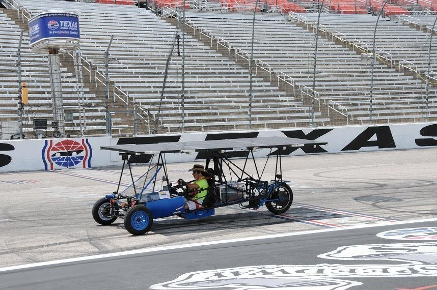 Student drives on Texas Motor Speedway
