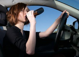 teen driver drinking alcohol