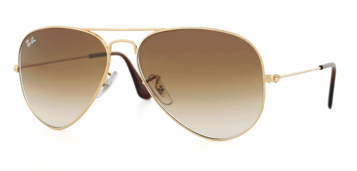 8643dc40a6 Ray-Ban RB3025 Large Metal Aviator Sunglasses