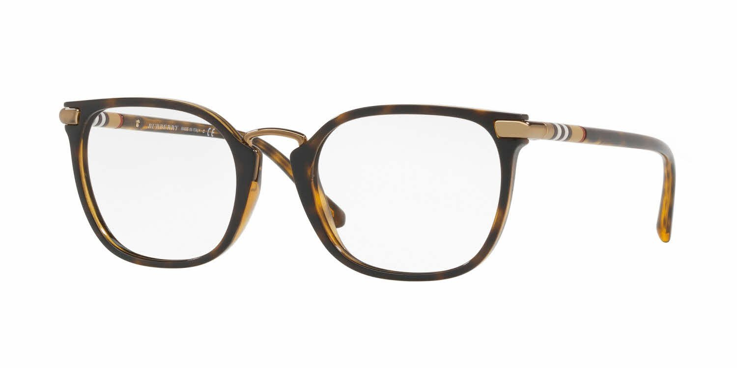 f50725c01 The Burberry BE2269 square tortoise shell glasses are an excellent option  for face shapes that aren't suited for round frames. Metal and striped  detailing ...