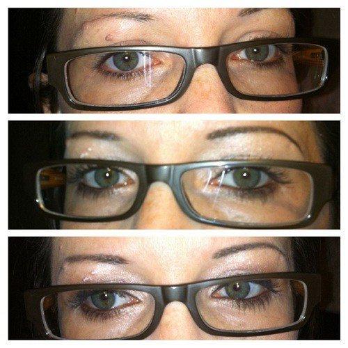 Makeup under glasses