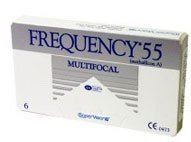 Frequency 55 Multifocal contact lenses offer a monthly disposable contact lens