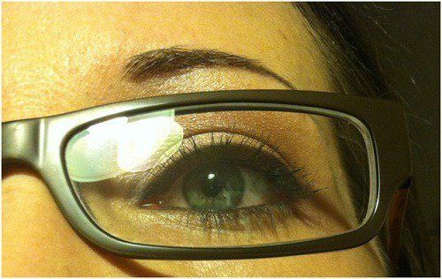 Makeup for glasses completed