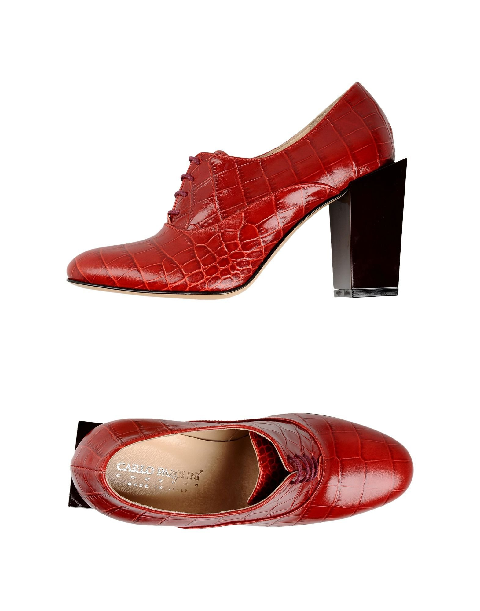 Red Lace-Up Shoes for Women, Carlo Pazolini