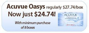 Shop Acuvue Oasys Contact Lenses from FramesDirect.com