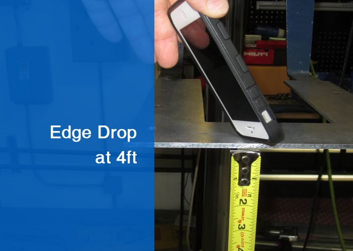 One of twelve edge drops at 4ft high.