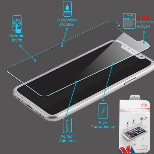 MYBAT tempered glass is an iPhone 8 accessory that protects screens from damage.