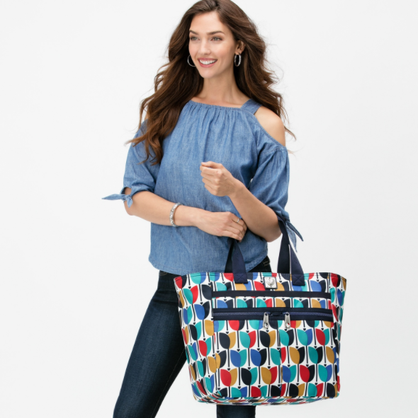 Lock It! The Lock It Super Tote is perfect for airports.