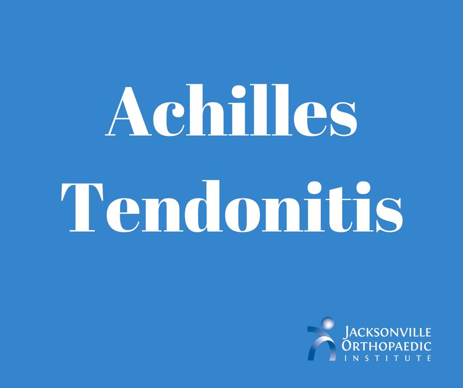 Achilles Tendonitis JOI