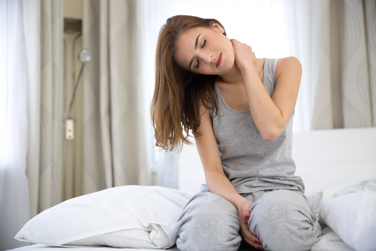 How to sleep with neck pain. JOI