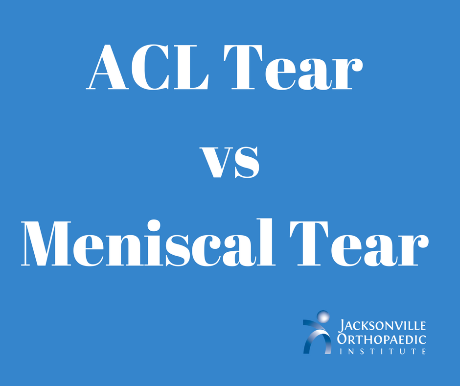 Is an ACL Tear Worse Than a Meniscal Tear?