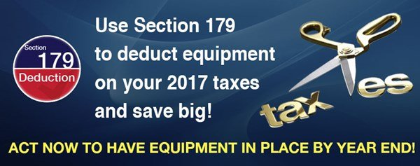 Section 179 equipment expenditures deduction