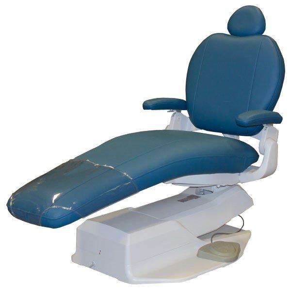 blue dental operator chair